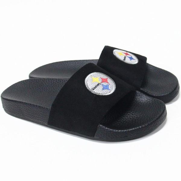 Cuce レディース サンダル・ミュール シューズ・靴 Pittsburgh Steelers Slide-On Sandals