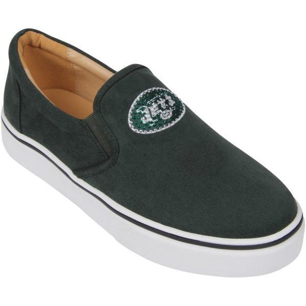 Cuce レディース スリッポン・フラット シューズ・靴 New York Jets Suede Slip On Shoe - Green