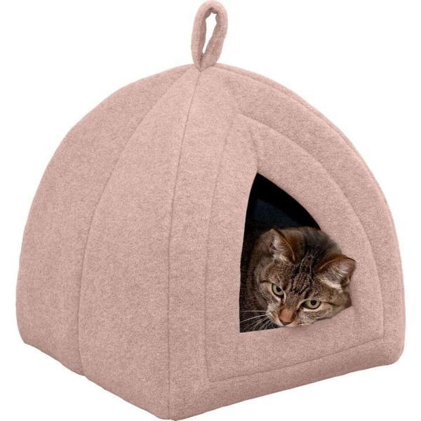 FurHaven ファーヘイヴン ペットグッズ 犬用品 ベッド・マット・カバー ベッド Fleece Pet Tent Cat Bed