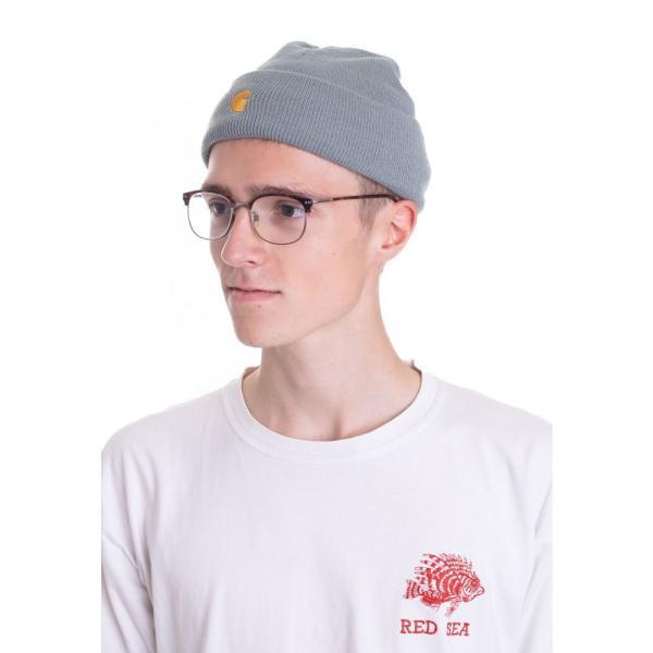 カーハート Carhartt WIP ユニセックス ニット ビーニー 帽子 - Chase Cloudy/Gold - Beanie blue|fermart-hobby|03