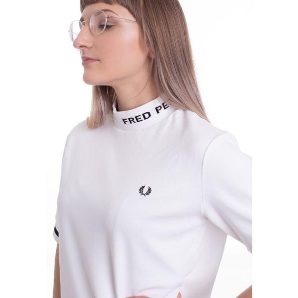 フレッドペリー Fred Perry レディース Tシャツ トップス High Neck Snow White Girly white fermart-hobby 02
