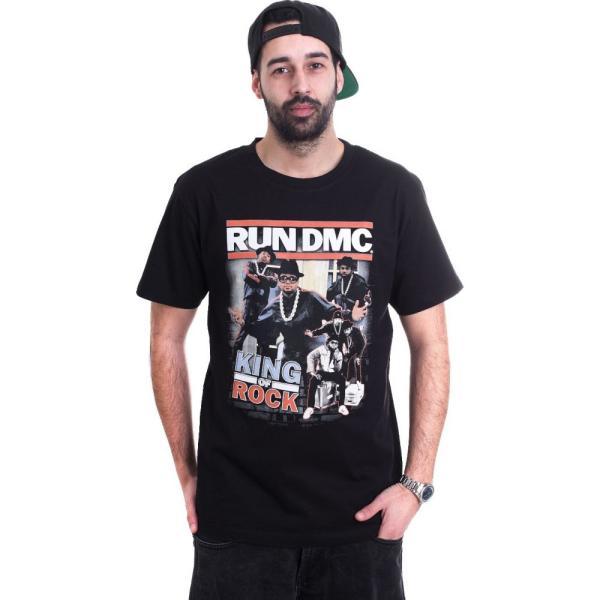 RUN DMC メンズ Tシャツ トップス King Of Rock T-Shirt black