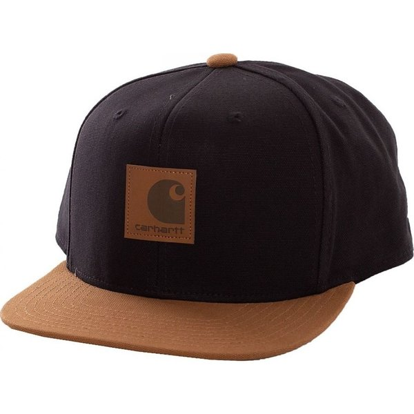 カーハート Carhartt WIP ユニセックス キャップ 帽子 - Logo Bi-Colored Black/Hamilton Brown - Cap black fermart-hobby