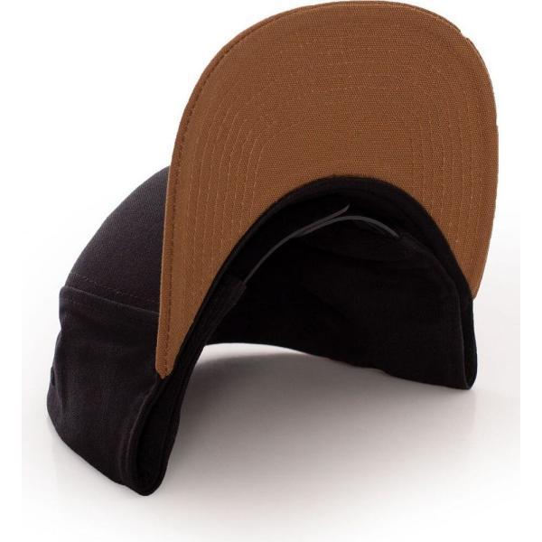 カーハート Carhartt WIP ユニセックス キャップ 帽子 - Logo Bi-Colored Black/Hamilton Brown - Cap black fermart-hobby 02
