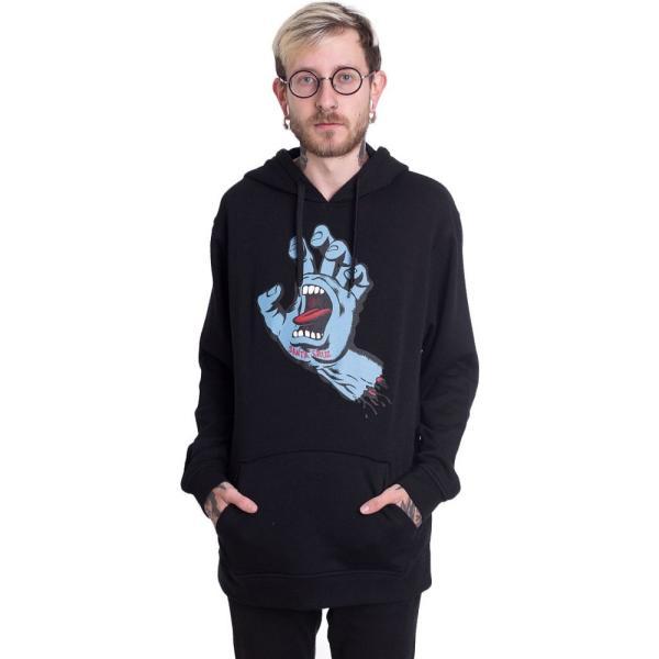 サンタクルーズ Santa Cruz メンズ パーカー トップス Screaming Hand Hoodie black|fermart-hobby