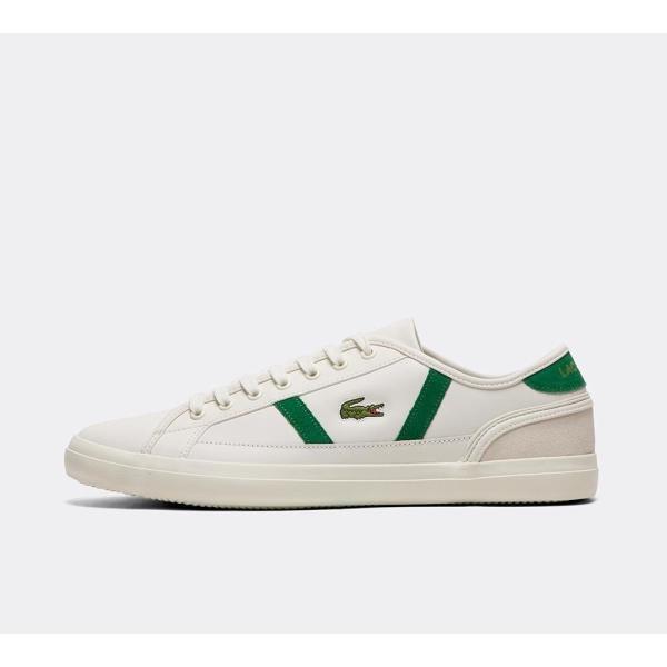ラコステ Lacoste メンズ スニーカー シューズ・靴 Sideline Leather Trainer White / Green / White|fermart-hobby