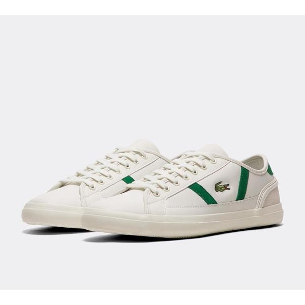 ラコステ Lacoste メンズ スニーカー シューズ・靴 Sideline Leather Trainer White / Green / White|fermart-hobby|02