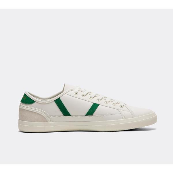 ラコステ Lacoste メンズ スニーカー シューズ・靴 Sideline Leather Trainer White / Green / White|fermart-hobby|03