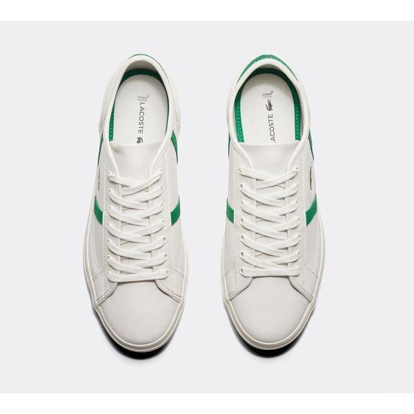 ラコステ Lacoste メンズ スニーカー シューズ・靴 Sideline Leather Trainer White / Green / White|fermart-hobby|04