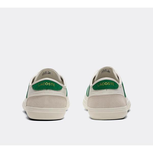 ラコステ Lacoste メンズ スニーカー シューズ・靴 Sideline Leather Trainer White / Green / White|fermart-hobby|05