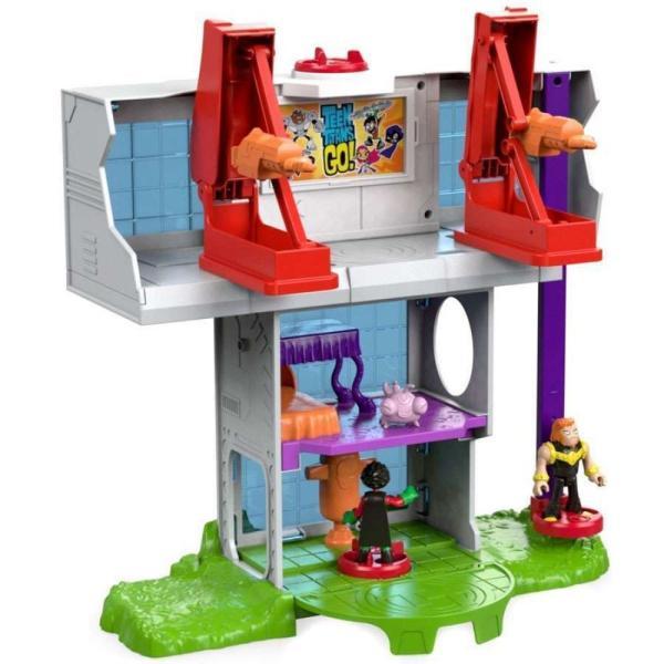 ティーン タイタンズGO! Teen Titans Go! フィギュア Imaginext Teen Titan Tower 3-Inch Playset [Robin, Mammoth & Silkie Figures!] fermart-hobby 02