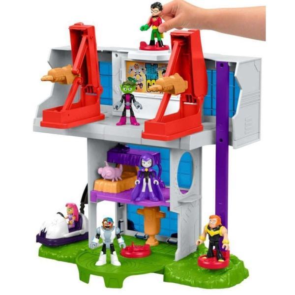 ティーン タイタンズGO! Teen Titans Go! フィギュア Imaginext Teen Titan Tower 3-Inch Playset [Robin, Mammoth & Silkie Figures!] fermart-hobby 03