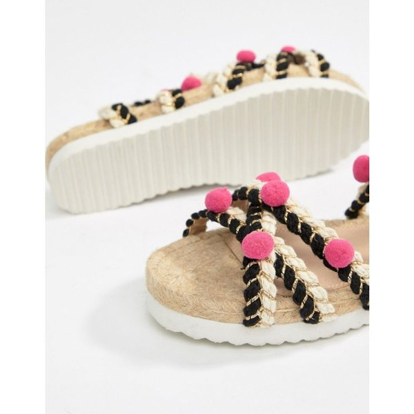 エイソス レディース エスパドリーユ シューズ・靴 ASOS DESIGN Just Play Pom Sandals Espadrilles Multi