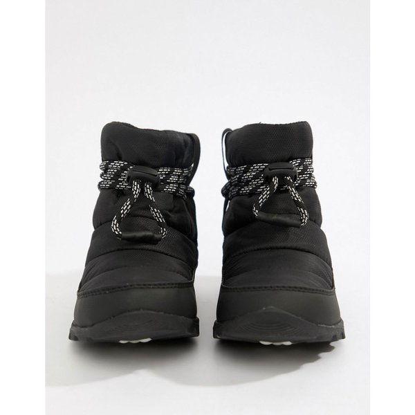 ソレル Sorel レディース ブーツ シューズ・靴 Whitney Short Waterproof Nylon Boots With Microfleece Lining Black|fermart-shoes|02
