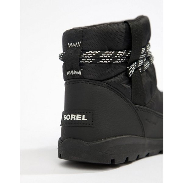 ソレル Sorel レディース ブーツ シューズ・靴 Whitney Short Waterproof Nylon Boots With Microfleece Lining Black|fermart-shoes|03