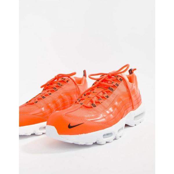 ナイキ Nike メンズ スニーカー シューズ・靴 Air Max 95 Premium Trainers In Orange 538416-801 Orange|fermart-shoes