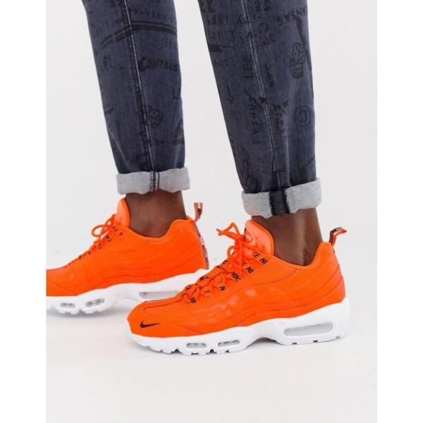 ナイキ Nike メンズ スニーカー シューズ・靴 Air Max 95 Premium Trainers In Orange 538416-801 Orange|fermart-shoes|03