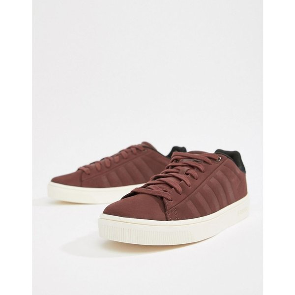 ケースイス K-Swiss メンズ スニーカー シューズ・靴 K Swiss Court Frasco trainer in burgundy Rumraisin|fermart-shoes|02