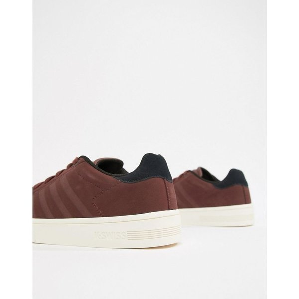 ケースイス K-Swiss メンズ スニーカー シューズ・靴 K Swiss Court Frasco trainer in burgundy Rumraisin|fermart-shoes|04