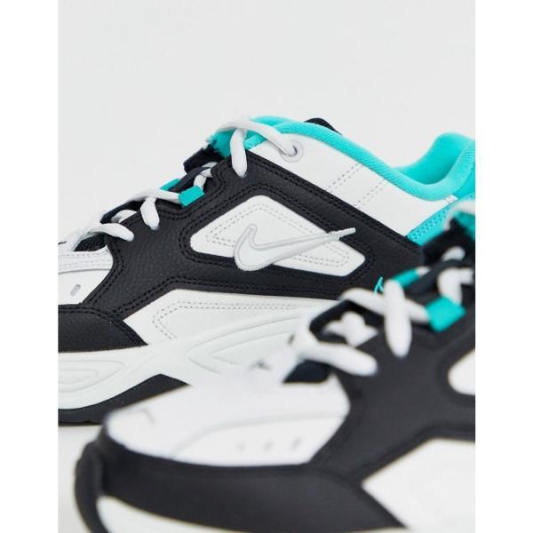 ナイキ Nike レディース スニーカー シューズ・靴 M2K Tekno trainers in black white and green Summit white