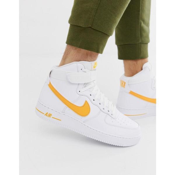 ナイキ Nike メンズ スニーカー シューズ・靴 Air Force 1 high trainers in gold Gold fermart-shoes