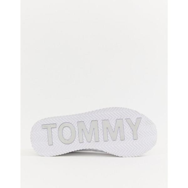 トミー ジーンズ Tommy Jeans レディース スニーカー シューズ・靴 classic flag trainers White