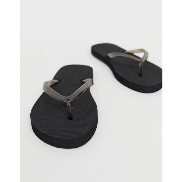 トリュフコレクション Truffle Collection レディース ビーチサンダル シューズ・靴 Wide Fit Flip Flops Black