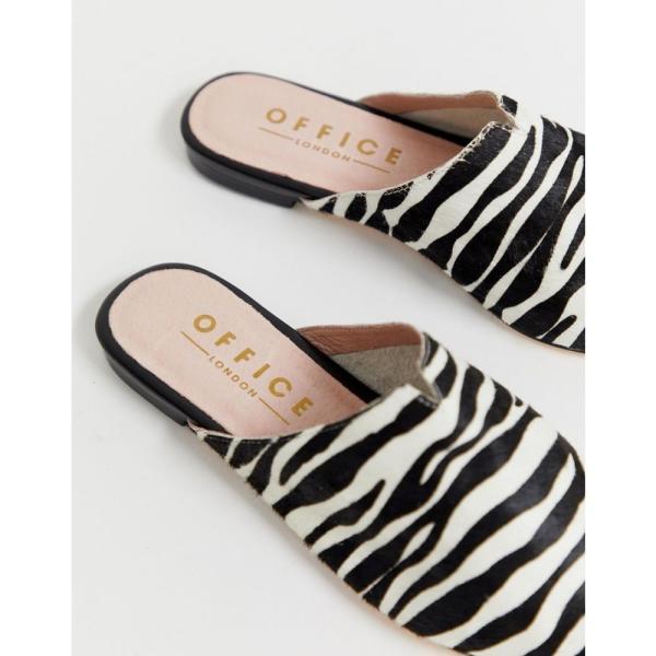 オフィス Office レディース スリッポン・フラット シューズ・靴 Faith exclusive zebra printed leather slip on mules Pony print