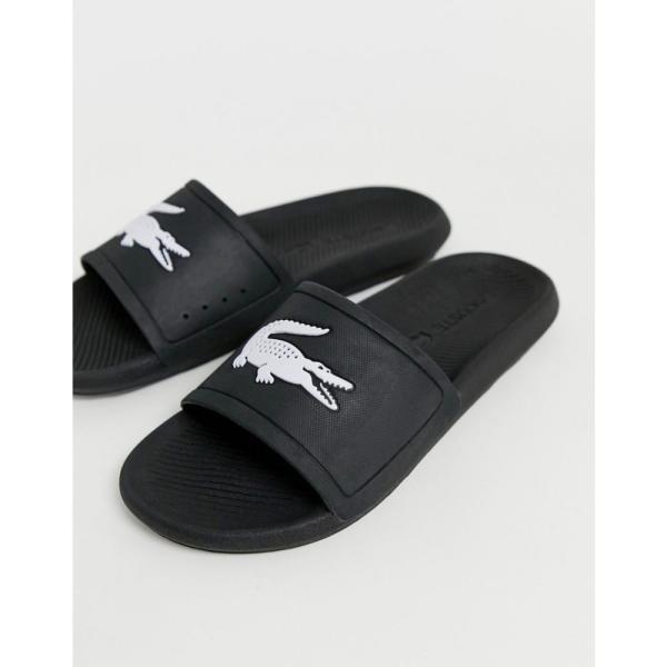 ラコステ Lacoste メンズ サンダル シャワーサンダル クロコダイル柄 シューズ・靴 croco sliders in black ブラック