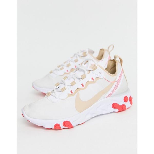 ナイキ Nike レディース スニーカー シューズ・靴 Beige and red react element 55 trainers Beige/red|fermart-shoes|02