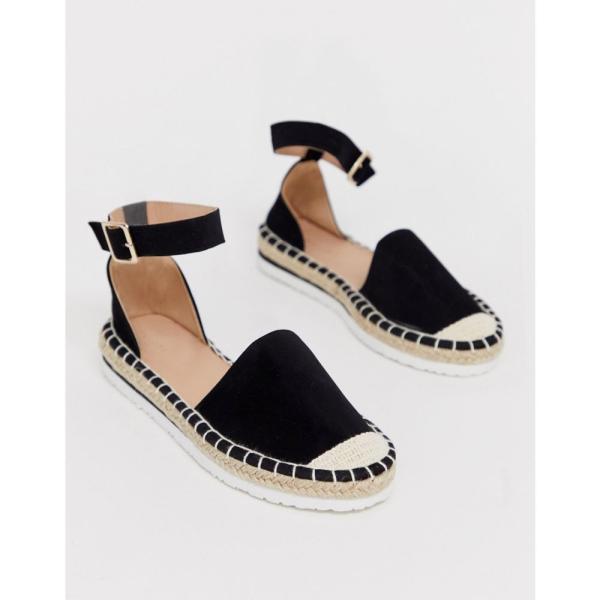ニュールック New Look レディース エスパドリーユ シューズ・靴 sport sole espadrille in black Black