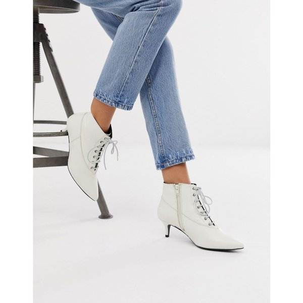 ゲタス Gestuz レディース ブーツ シューズ・靴 Nea lace up pointy boots Vapourous grey