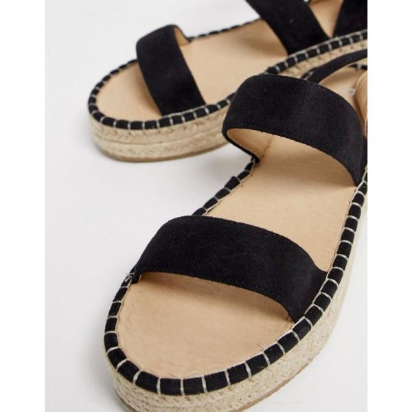 レイド Raid レディース エスパドリーユ シューズ・靴 RAID Bellini black espadrille sandals Black suede