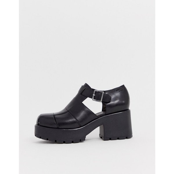バガボンド Vagabond レディース ヒール シューズ・靴 Dioon black leather chunky heeled shoes Black