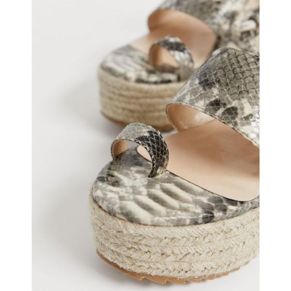 パブリックディザイア Public Desire レディース エスパドリーユ シューズ・靴 Calypso snake flatform toe loop espadrilles Snake