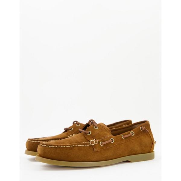 ラルフ ローレン Polo Ralph Lauren メンズ デッキシューズ シューズ・靴 Merton suede slip on boat shoe in tan with laces タン