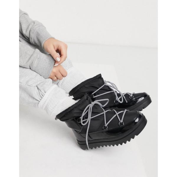 グラマラス Glamorous レディース ブーツ スノーブーツ シューズ・靴 short snow boots in black ブラック