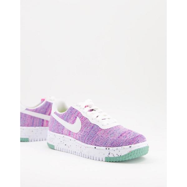 ナイキ Nike レディース スニーカー エアフォースワン シューズ・靴 Air Force 1 Crater Flyknit MOVE TO ZERO trainers in purple and blue ピンクブラスト