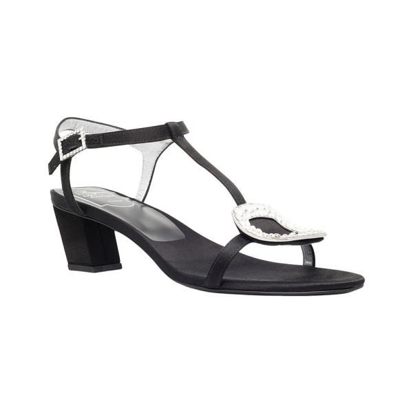 ロジェ ヴィヴィエ roger vivier レディース サンダル・ミュール シューズ・靴 chips satin heeled sandals Black