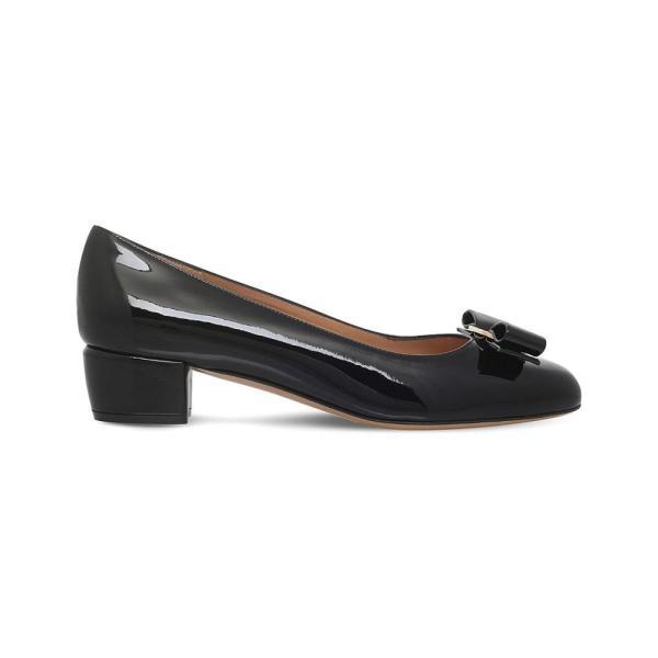 サルヴァトーレ フェラガモ レディース パンプス シューズ・靴 vara patent-leather heeled courts Black