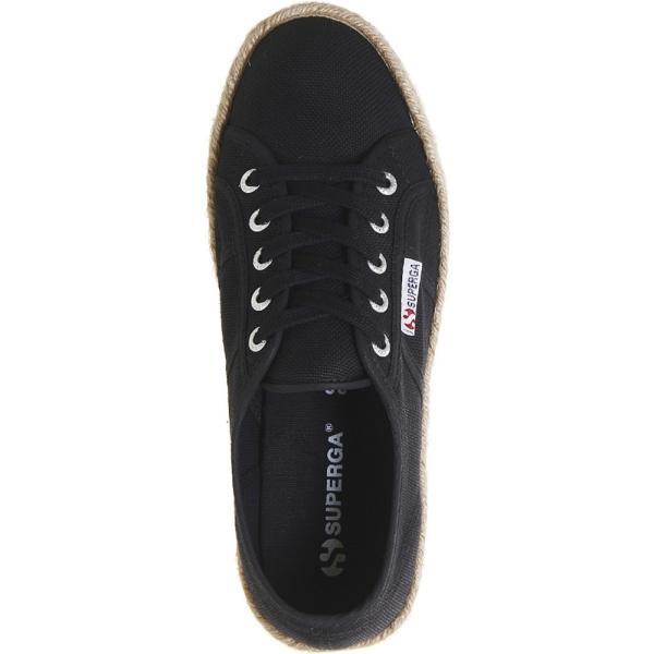スペルガ レディース エスパドリーユ シューズ・靴 2790 canvas espadrille flatforms Black espradrille