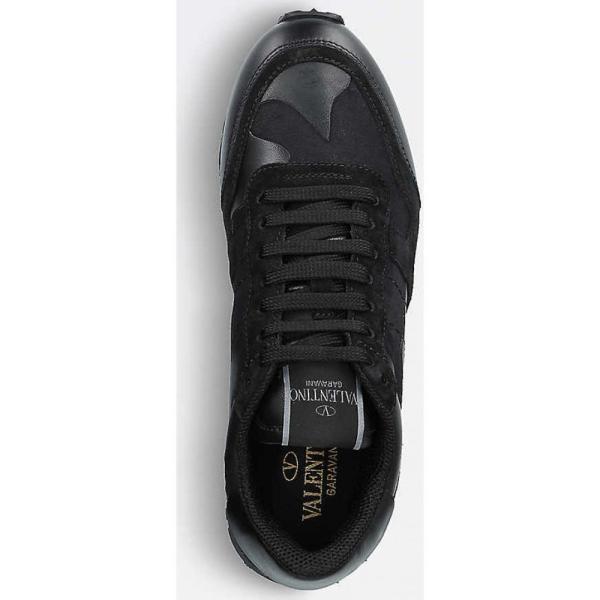 ヴァレンティノ レディース スニーカー シューズ・靴 camo-print leather trainers Black