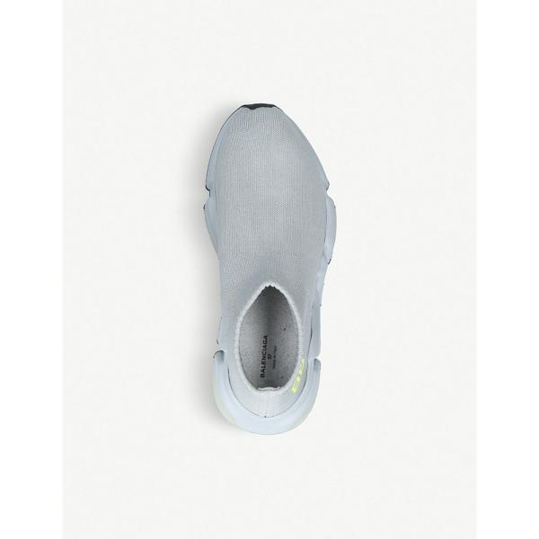 バレンシアガ レディース スリッポン・フラット シューズ・靴 speed low-top stretch-knit trainers Grey