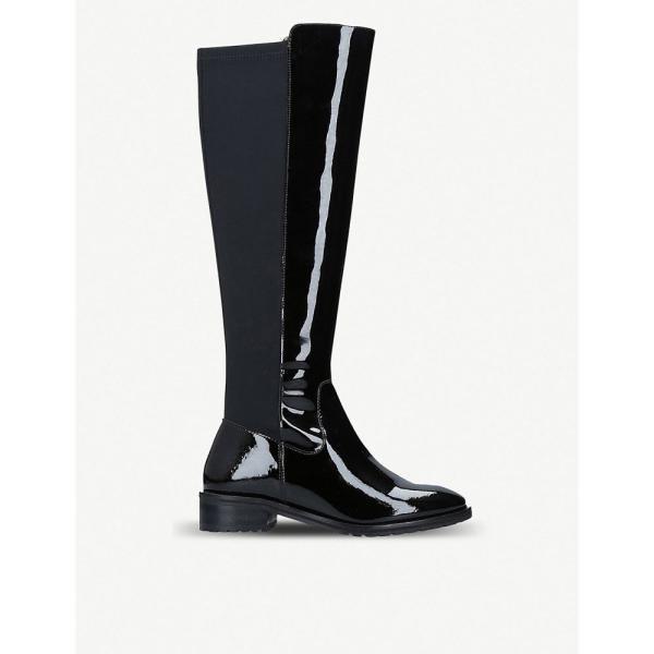 カート ジェイガー kurt geiger london レディース ブーツ シューズ・靴 rayko patent two-tone boots Black