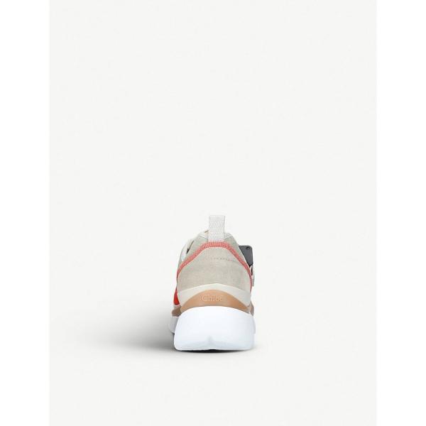 クロエ chloe レディース スニーカー シューズ・靴 sonnie colour-block low-top trainers Grey