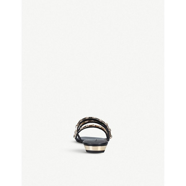 ステラルナ stella luna レディース サンダル・ミュール シューズ・靴 chain-embellished leather sandals Black