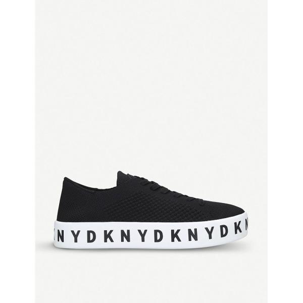 ダナ キャラン ニューヨーク dkny レディース スニーカー シューズ・靴 banson leather flatform trainers Black