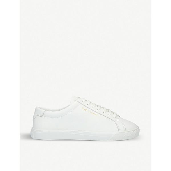 イヴ サンローラン saint laurent レディース スニーカー シューズ・靴 andy leather trainers White