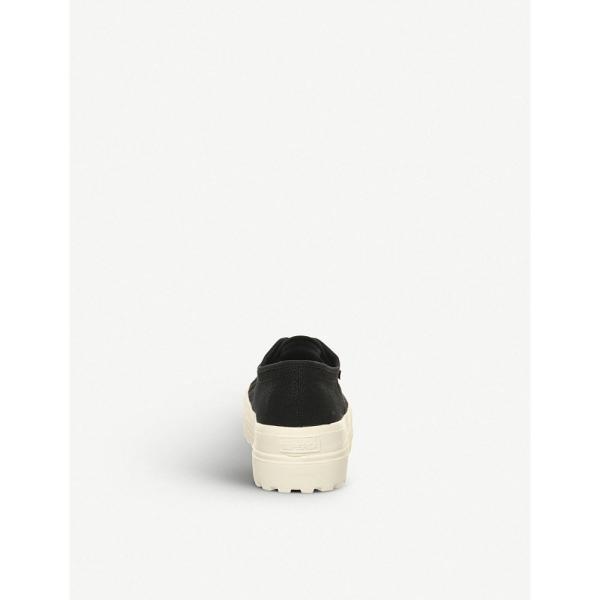 スペルガ superga レディース スニーカー シューズ・靴 2555 cotu canvas trainers Black off white