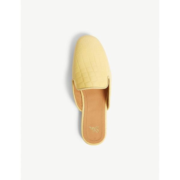 スティーヌ ゴヤ stine goya レディース サンダル・ミュール シューズ・靴 scarlett croc-embossed leather mules Golden haze